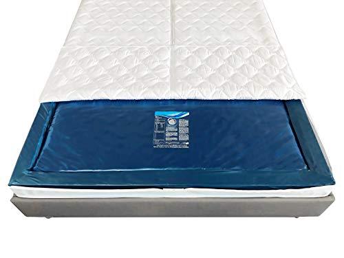 Aqua Sense Mono UNO 1x Wasserkern inkl. Liner/Schutzfolie + 2X cond. - ersatzset für Wasserbett/Wasserbettmatratze Größe - 140 x 200 cm Mono - Softside: Innen keilförmig 20-23 cm - Beruhigung 80%
