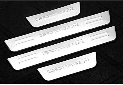 4 piezas de umbrales de puerta exteriores, para KIA Sportage R 2011-2015, placas de protección para pedales de coche, barra de umbral, tira de protección antideslizante, antirrayas