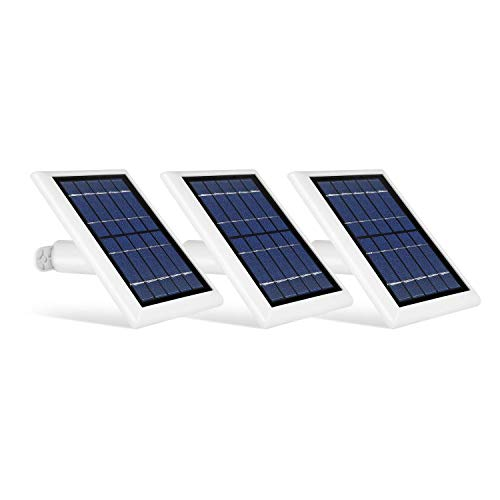 Wasserstein 2W 6V Solar Panel with 13.1ft/4m Cable Compatible with Arlo Ultra/Ultra 2, Arlo Pro 3/Pro 4, & Arlo Floodlight ONLY (3-Pack, White) (NOT Compatible with Arlo Essential Spotlight)