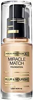 Max Factor Miracle Match Shade-Matching Foundation 30ml, 45 Warm almond