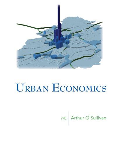 Urban Economics (McGraw-Hill Series in Urban Economics)
