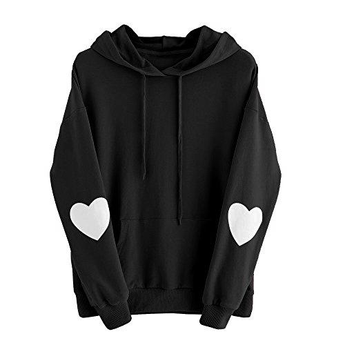 Sweat-Shirt Pull Femme,Covermason Mode Femmes Sweat à Capuche Manches Longues à Capuche Amour Imprimé Tops Blouse