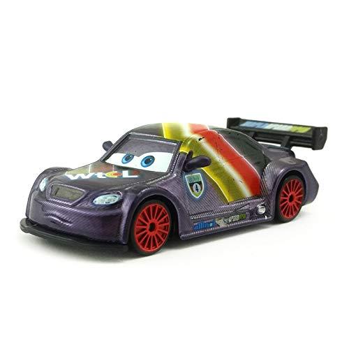 Disney Disney Pixar Cars 2 Neon Max Schnell Metal Diecast Toy Car 1:55 Loose in Stock &