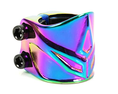 Blunt Scooter - Abrazadera de tubo y 2 tornillos Forged Os, Oil slick