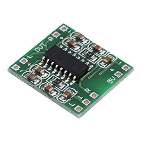 MARSPOWER PAM8403 Placa de Amplificador súper Digital Placa de Amplificador de Potencia de 5 V Eficiente con potenciómetro de Interruptor Fuente de alimentación USB - Verde
