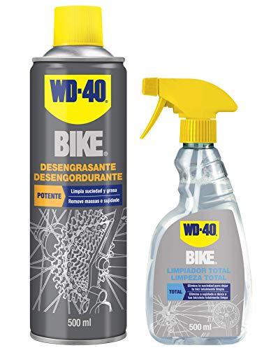 WD-40 Specialist Bike - Lote para Limpieza Total de Bicicleta con Desengrasante de Cadenas 500Ml + Limpiador Total 500Ml - Pack 2 Unidades