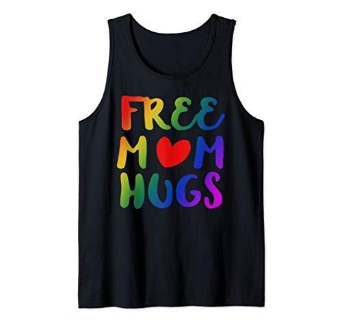 Free Mom Hugs Lgbt Rainbow Gay Pride Rainbow Flag Tank Top