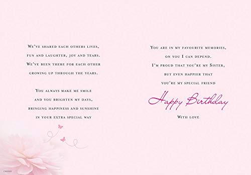 Birthday Card Sister - 9 x 6 inches - Regal Publishing