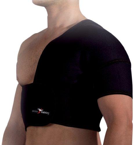 Precision Training Schulterbandage, halbe Größe (Links), aus Neopren Mehrfarbig schwarz/red M