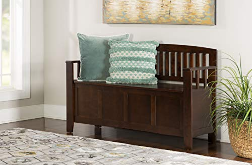"Linon Home Dcor Linon Home Decor Cynthia Storage Bench, 50""w x 17.25"