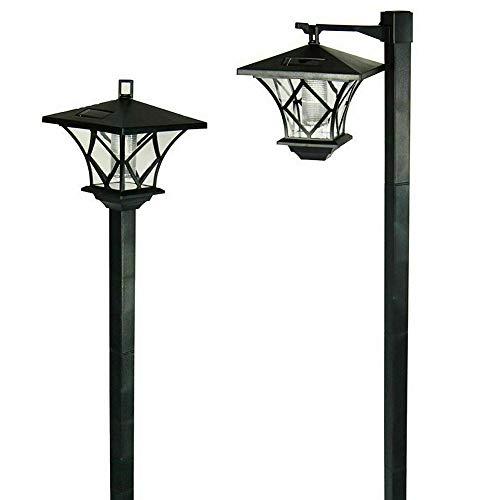 Zacha - Lámpara solar para exteriores IP55 impermeable para jardín, luz solar LED, 59 pulgadas de alto, luces de paisaje, para jardín, césped, patio