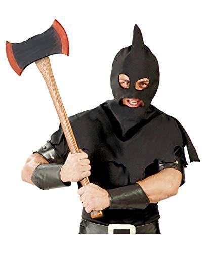 Horror-Shop Doppelseitige Henker Axt als Spielzeugwaffe für Halloween & LARP-Events