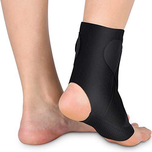Josopa Soporte de tobillo, tobillera de compresión ajustable para hombres y mujeres, transpirable y elástica para esguinces de tobillo, tobilleras