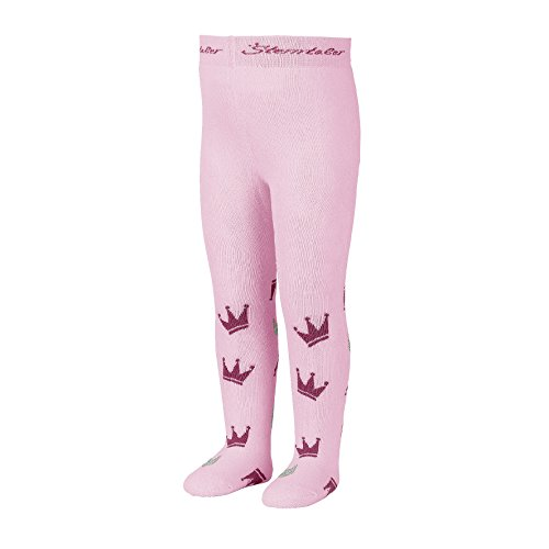 Sterntaler Sterntaler Strumpfhose mit Kronen für Mädchen, Alter: 5-6 Monate, Größe: 74, Pink (Rosa)