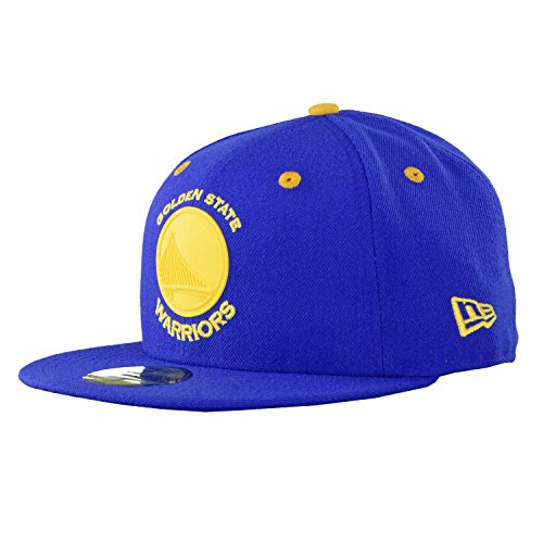 New Era Mujeres Gorras / Gorra plana NBA Rubber Logo Golden State Warriors