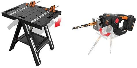 WORX Pegasus Multi-Function Work Table Quick Ranking TOP16 with Sawhorse Courier shipping free and C