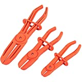 Juvale Hose Clamp Pliers for Fuel Hoses (3 Sizes, Red, 3 Pack)