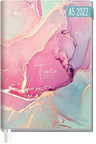 Chäff-Timer Classic Kalender 2022 A5 [Silky Pink] mit 1 Woche auf 2 Seiten | Terminplaner, Wochenkalender, Organizer, Terminkalender mit Wochenplaner | nachhaltig & klimaneutral