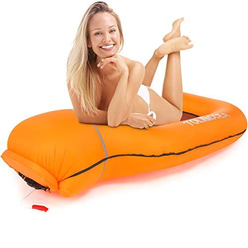 Aufblasbares Sofa Wasserdicht Luft Couch, Tragbares Aufblasbares Liege Hängematte...