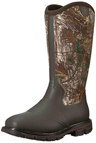 Ariat Men's Conquest Rubber Neoprene Insulated Hunting Boot,Dark Brown Camo,10.5 D Medium US