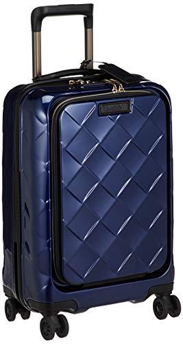 [ストラティック] スーツケース レザー&モア 機内持込 33L 3.30kg フロントオープン(前開き) 4輪ダブルキャスター 本革 ドリンクホルダー機能 機内持ち込み可 保証付 55 cm 3.3kg ネイビーブルー