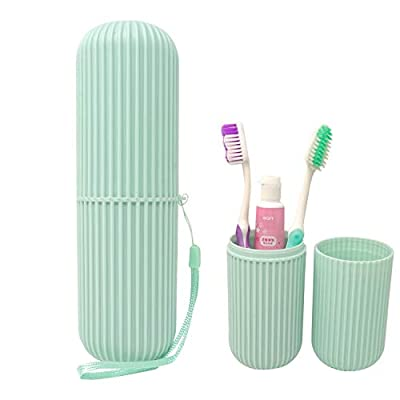 Honbay Portable Plastic Toothbrush Toothpaste Cup Case Box Holder Container for Travel