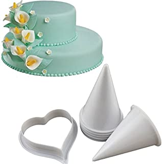 Joinor Cake Flower Making Kit Gumpaste Flowers & The Easiest Calla Lily Former Cutter Sugarcraft Decorating Set of 7