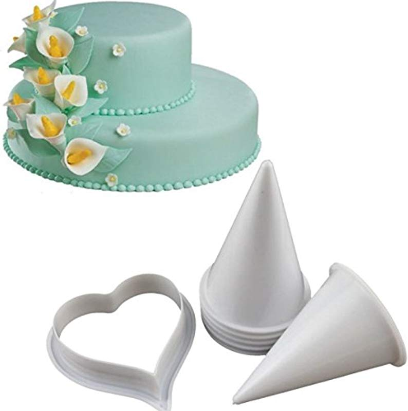 Joinor Cake Flower Making Kit Gumpaste Flowers The Easiest Calla Lily Former Cutter Sugarcraft Decorating Set Of 7
