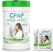 RespLabs Medical CPAP Mask Wipes - [110 Pack Bottle Plus 2 Individual Packs] - Biodegradable, Unscented, and Lint-Free.