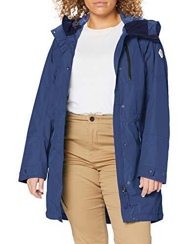 Schöffel Parka Malmö1, wasserdichte Regenjacke für Frauen mit praktischen Taschen, modische und leichte Damen Jacke für Frühling und Sommer Damen, blue indigo, 38