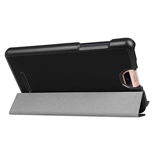 Kepuch Custer Hülle für Acer Iconia Talk S A1-734,Smart PU-Leder Hüllen Schutzhülle Tasche Case Cover für Acer Iconia Talk S A1-734 - Schwarz