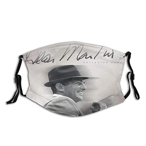 Face Scarf Dean Martin Collected Cool Breathable Face Protection Retro Warm Personalized Sunscreen Anime Unique Men Windproof Mouth Protection Face Scarf Balaclava Women Durable W