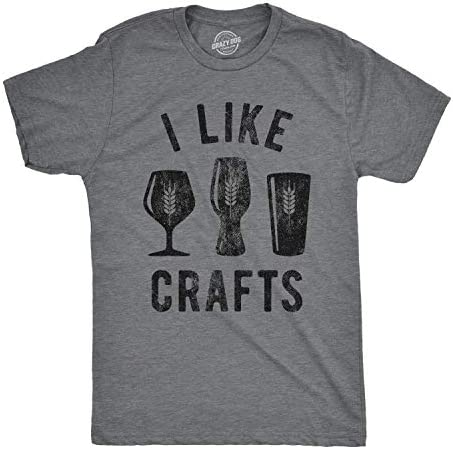 Mens I Like Crafts T Shirt Funny Beer Lover Brew Drinking Party Gift for Him Tee Dark Heather product image