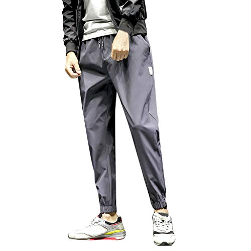 manadlian Pantalons pour Hommes Pantalon Casual Joggings Sport Pantalons à Poches Solides Classiques Jeans Poche Sport Joggers Pantalon de Travail Sweatpants