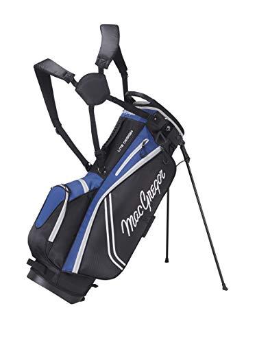 "MACGREGOR Unisex-Adult MACBAG136 Response ZT LITE 9\"" Inch Golf Club Stand Bag, Black/Royal Blue, One Size"