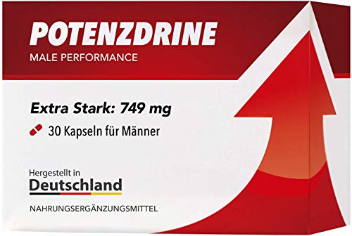 Potenzdrine | Male Health, Energy and Performance | 30 Extra Strong Capsules
