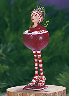 Patience Brewster Mini Ruby the Red Wine Girl Figural Ornament Christmas Tree Decoration 08-30958