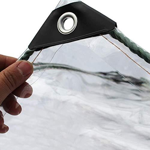 LISI wasserdichte PVC Regenschutz Tarp, Gewächshäuser Balkon, Glas Klar Mit Ösen for Outdoor-Persenning Heavy Duty UV-stabilisiertes Tar (Size : 1x3m)