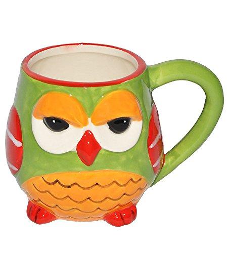 alles-meine.de GmbH 1 STK. Henkeltasse / Kaffeebecher - mit Eule - groß - Keramik Trinktasse mit Henkel - Trinktassen / Kaffeepott / Kaffeetassen / Teetassen - Eulenmotiv Tassen ..