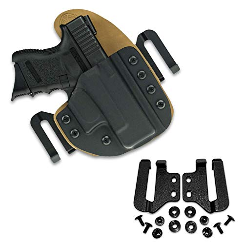 """HolsterBuilder 1.75"""" Holster Speed Clips - Kydex Belt Clip for Outlaw OWB Holsters - Adjustable Cantt for Kydex, Leather, and Hybrid Holster - Quick Kydex Clip High-Grade Material with Hardware"""