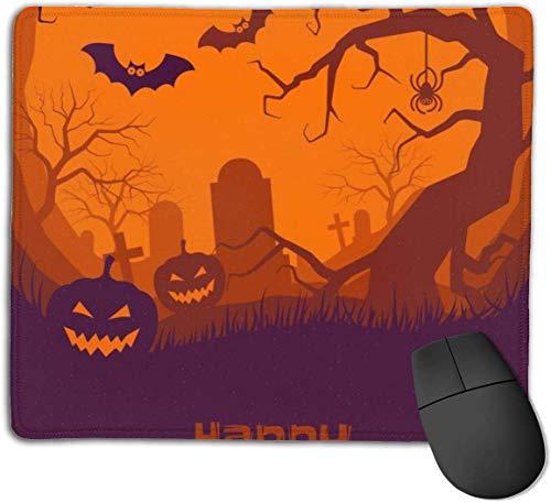 HJJL Mauspad Mousepad Anti-SlipHappy Halloween Poster of Pumpkin Mouse Pad Mat Mice Mousepad Desktop Mouse pad Laptop Mouse pad Gaming Mouse pad 9.84x 11.8 inches.