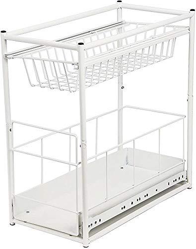 Embedded vida útil con una cesta de cajones incorporado para muebles de cocina,White