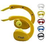 emartbuy Gblue Jaune S80 Bluetooth Stéréo sans Fil Casque de Sport Écouteurs dans Supports d'oreille Mains Libres Calling avec...