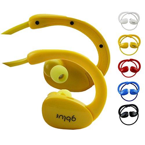 Emartbuy® GBlue Gelb S80 Bluetooth Sports Kopfhörer Kabellos In Ear Stereo Freisprechen mit Mikrofon für Excelvan BT-MT13 9.6 Zoll Tablet PC