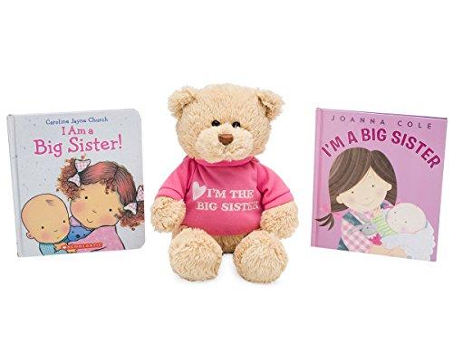 MartLoop Big Sister Gift Set for Little Girls and Toddlers, Big Sister Bear, I'm a Big Sister Book by Joanna Cole and I am a Big Sister Book by Caroline Jayne Church Bundle