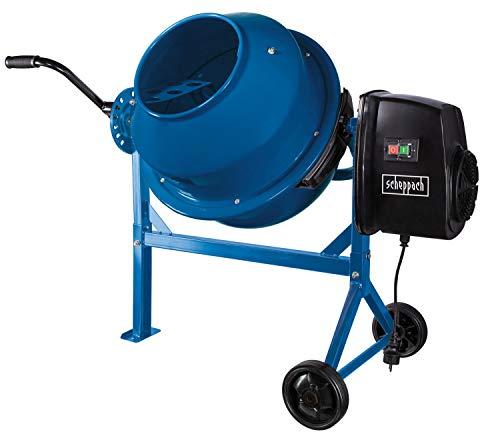 scheppach Betonmischer MIX63 (220 W, Fassungsvermögen 63 L, Drehzahl 27,5 min-1, langlebig und robust, Kompakt und leicht zu transportieren, 230 V)