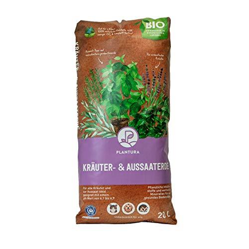 Plantura Bio Kräuter- & Aussaaterde, 20 L, torffrei & klimafreundlich, vorgedüngt