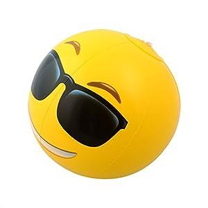 "Kangaroo Emoji Universe: 12"" Emoji Inflatable Beach Balls, 12-Pack"