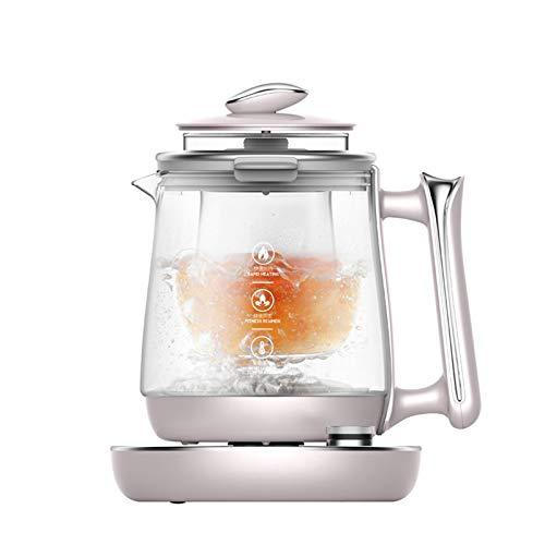 GMZS Küche Wasserkocher, 1.5L gesundheitsfördernder Multifunktionstopf, Porridge mit Sieb, regelmäßiger Termin Tee Isolation
