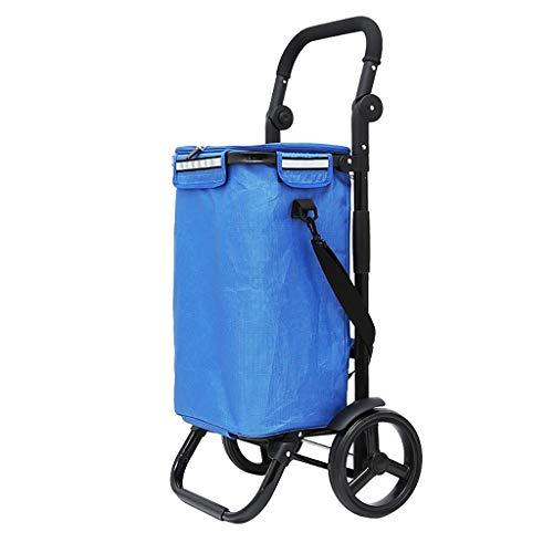 Faltbarer Einkaufswagen-tragbarer Reiseanhänger-Haushaltsgepäckwagen-Einkaufswagen mit Aluminiumlegierungsrahmen (Color : A)